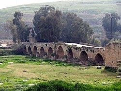 Ancient Roman bridge in Mhardeh