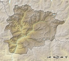 Andorra la Vella is located in Cithakan:Location map Andorra