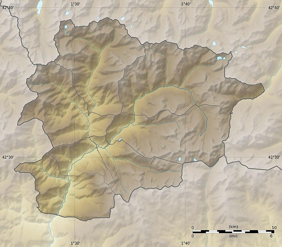 Andorra relief location map