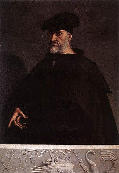 Portrait d'Andréa Doria (1526) par Sebastiano del Piombo.