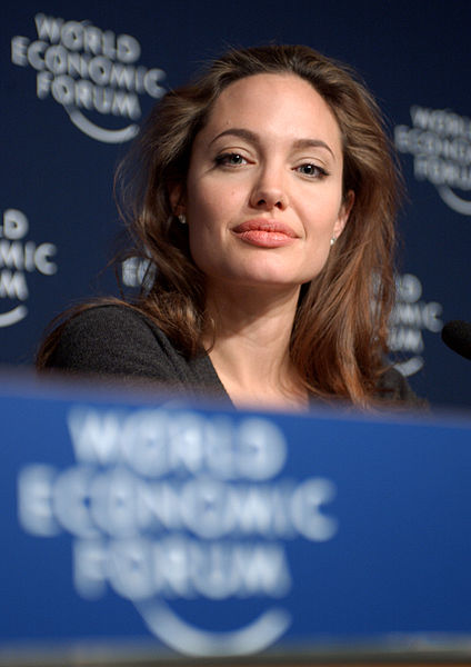 DAVOS/SWITZERLAND, 29JAN05 - Angelina Jolie, Goodwill Ambassador, United Nations High Commissioner for Refugees (UNHCR), Geneva, captured during a Press Conference at the Annual Meeting 2005 of the World Economic Forum in Davos, Switzerland, January 29, 2005. Copyright World Economic Forum (www.weforum.org) swiss-image.ch/Photo by Remy Steinegger. License CC BY-SA 2.0
