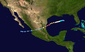 1977 Atlantic hurricane season - Image: Anita 11 1977 track