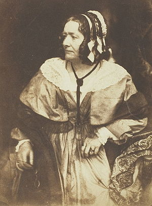 Anna Brownell Jameson - Salt print of Jameson in 1844 by Hill & Adamson