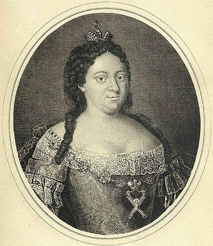 Анна Иоанновна. Гравюра Ивана Соколова, 1740