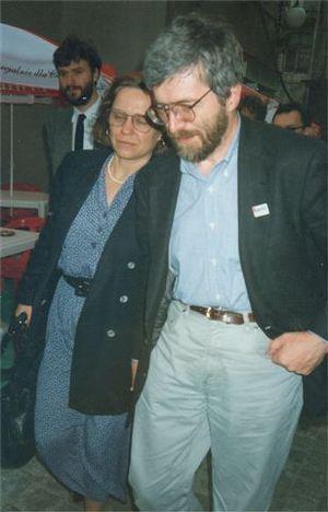 Stanisław Barańczak - Stanisław Barańczak with his wife Anna in 1995
