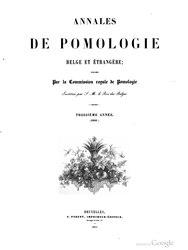 Commission royale de Pomologie: Annales de pomologie belge et étrangère