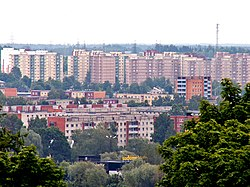 Apartment blocks of Annelinn seen from the cathedral.