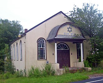Anshei Glen Wild Synagogue - West profile and north elevation, 2008