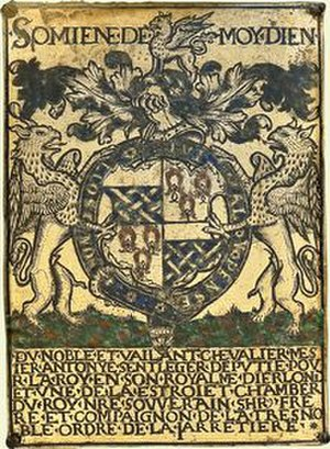 Anthony St Leger (Lord Deputy of Ireland) - Garter stall plate of Sir Anthony St Leger, KG, St George's Chapel, Windsor Castle