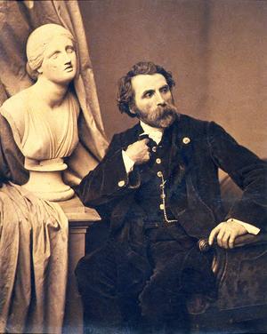 Antoine Samuel Adam-Salomon - Self-portrait, c. 1860