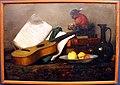 Antoine vollon, natura morta con macaco e chitarra (arte e ingordigia), 1864, 01.JPG