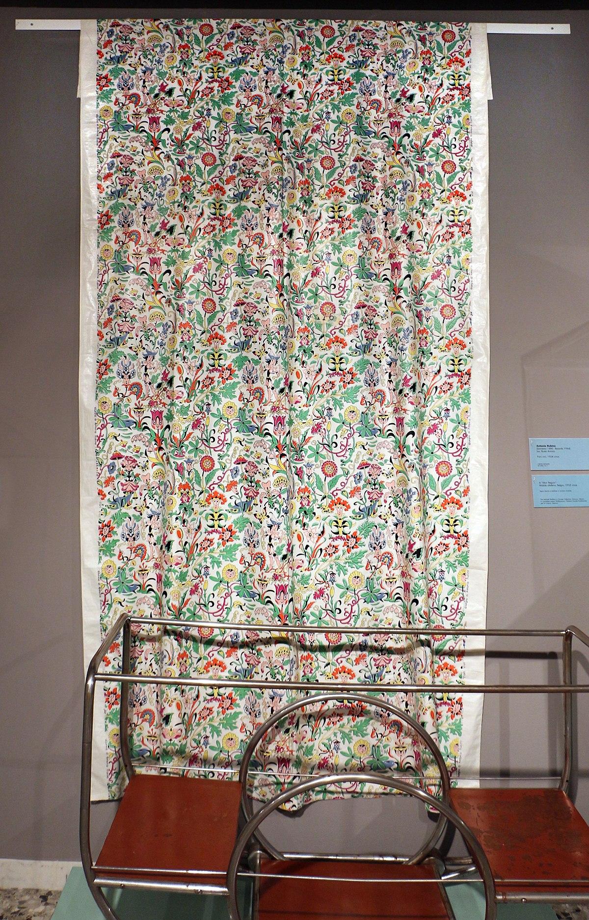 Home Design Busto Arsizio file:antonio rubino per jsa, tenda in cotone stampato fiori
