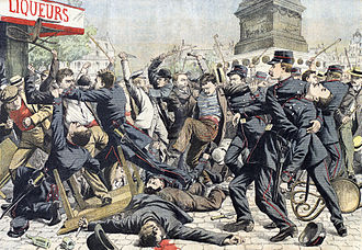 Gang - Apache gangsters fight police. Paris, 1904