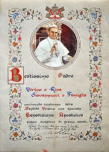 How to get a papal blessing certificate