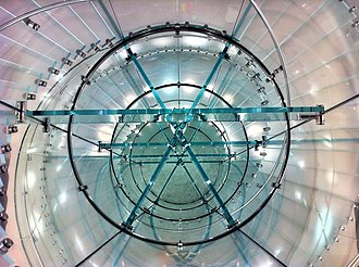 Apple Store - A spiral staircase inside the Apple Store in Boston