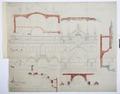 Arbetsritning, fastigheten nr 4 Hamngatan. Stall, vagnbod och fontän - Hallwylska museet - 105282.tif