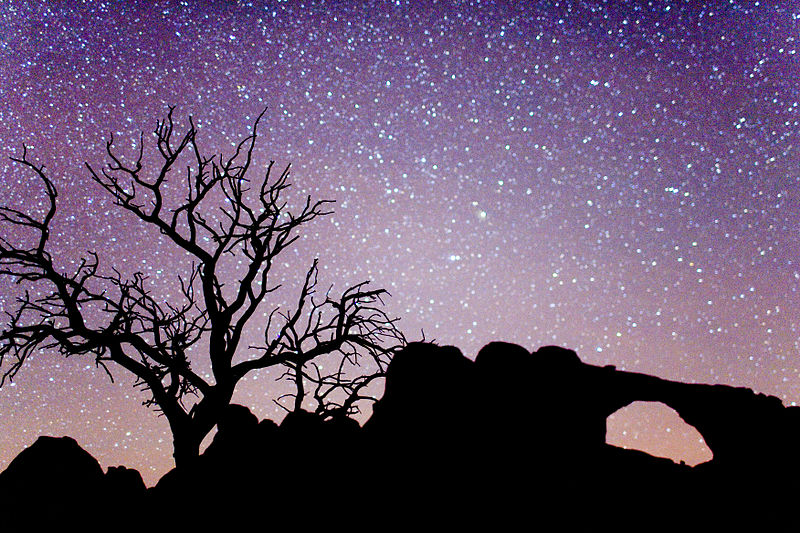 File:Arches National Park Night.jpg