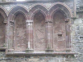 Ardfert Cathedral - Sedilia at Ardfert Cathedral, August 2015