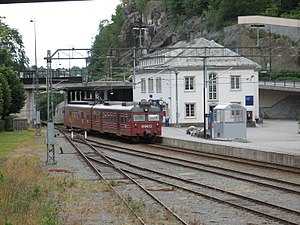 Arendal Line - Class 69 unit at Arendal Station