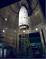 Ariane 5 payload fairing before jettison test.JPG