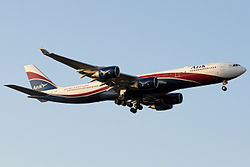 Arik Air Hifly A340-500 CS-TFW in LHR.jpg