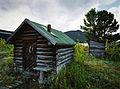 Arne Ormen cabin on Lake Bennett, Carcross, Yukon (10752687014).jpg