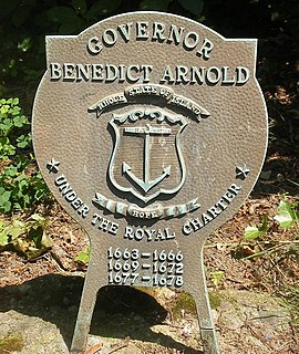 Benedict Arnold (governor) Rhode Island colonial governor