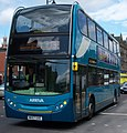 Arriva bus 7512 Alexander Dennis Trident 2 Enviro 400 NK57 GXE in Newcastle upon Tyne 9 May 2009 pic 1.jpg