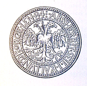 Perfekt Doppeladler Auf Einem Dänischen Siegel