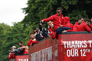 2015 FA Cup Final - Arsenal's Jack Wilshere was charged with misconduct by the FA for his role in their victory parade.