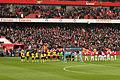 Arsenal v Balckburn Rovers line up (6823982555).jpg
