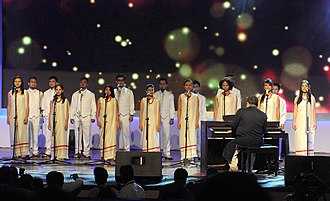 Shillong Chamber Choir - Shillong Chamber Choir performing at inaugural ceremony of 42nd International Film Festival of India in 2011