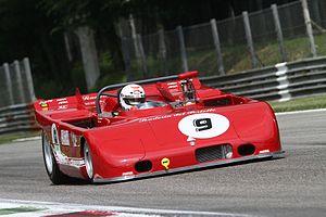 Alfa Romeo Museum - Arturo Merzario with Alfa Romeo 33 TT in Monza
