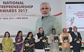 Arun Jaitley releasing the publication at the presentation of the National Entrepreneurship Awards 2017, on the occasion of the 3rd Foundation Day of MSDE, in New Delhi (1).jpg