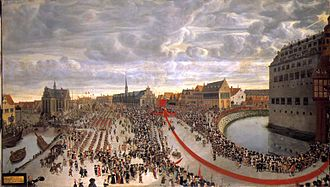 1660 in Denmark -  Paying Homage to the Hereditary King in Front of Copenhagen Castle, 18 October 1660 Wolfgang Heimbach, (1666)