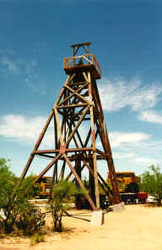 Asarco - Headframe of an underground mine at the ASARCO Mission Complex near Tucson, Arizona.