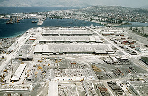 Olongapo - Ash from Mount Pinatubo covers Naval Station Subic Bay.