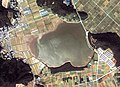 Ashigaike water reservoir in Tahara-city Aerial photograph.1982.jpg
