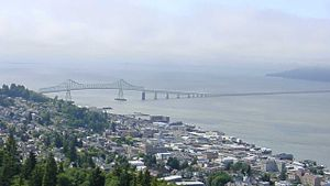 U.S. Route 101 in Washington - The Astoria-Megler Bridge carries US 101 over the Columbia River.
