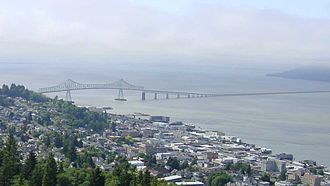 U.S. Route 101 - The Astoria-Megler Bridge carries US 101 over the Columbia River.