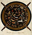Astrology; the Egyptian zodiac. Coloured engraving by J. Cha Wellcome V0024917.jpg