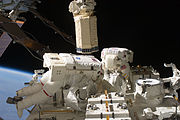 Astronauts Tom Marshburn and Christopher Cassidy STS-127 Space walk 5