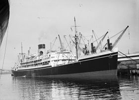 Athenic, probably in Wellington Harbour, ca late 1940s.jpg