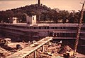 Atrium bridge and Cottrell building being built at the University of Stirling.jpg