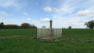 A cross sited in Blore Heath, Staffordshire to mark the spot on which James Touchet, Lord Audley was killed at the battle of Blore Heath in 1459