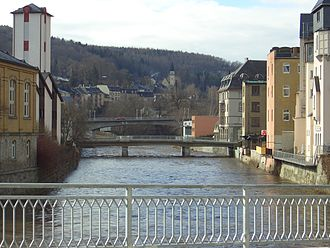Aue - Bridges over the Zwickauer Mulde