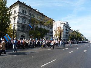 Székelys - Demonstration for the Autonomy of Székely Land - 2013, Budapest