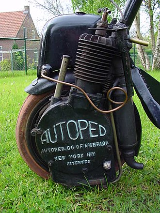 Personal transporter - Engine of an Autoped, made 1915-1922