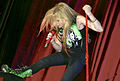 Avril with green boots, Brazil (crop).jpg