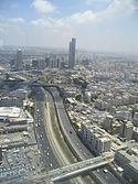 Ayalon Highway which runs through Tel Aviv.jpg